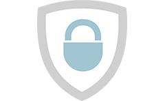 Иконка. Надежно защищенные данные.