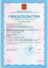 Сертификат описания типа измерения электросчетчик А3