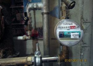 Фото умного счетчика горячей воды с обменом данными