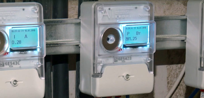 Электросчетчик A1M установленный фото