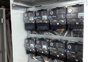 Фото установленных умных счетчиков электроэнергии