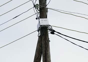 «Умный» электросчетчик вынесенный на столб в СНТ