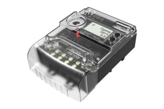 Электросчетчик АСКУЭ с радиомодемом СТРИЖ «А1» ракурс сверху под углом