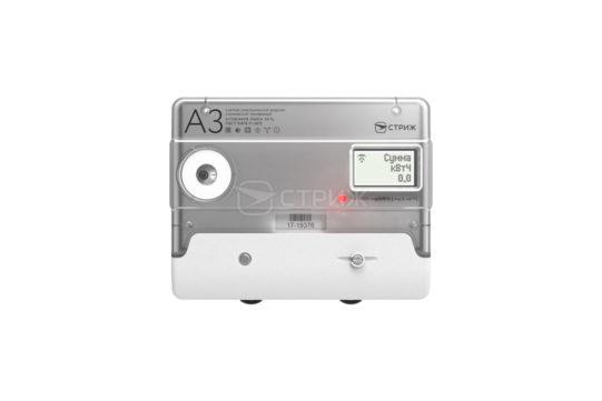 Электросчетчик «А3М» с радиомодемом «СТРИЖ» ракурс спереди