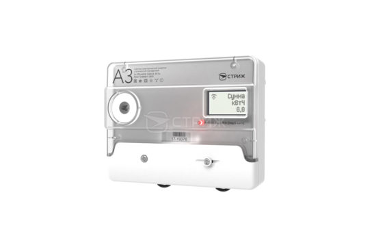 Электросчетчик «А3М» с радиомодемом «СТРИЖ» ракурс под углом